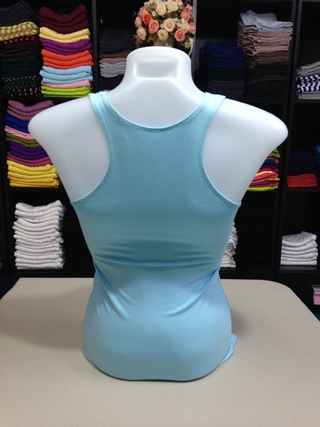 เสื้อกล้ามหลังสปอร์ต สีฟ้าอ่อน