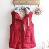 PreOrderไซส์ใหญ่ - เสื้อกันหนาวแฟชั่น ไซส์ใหญ่ ข้างในเป็นขนสัตว์ แขนกุด ใส่ทับข้างนอกเท่ ๆ สี : แดง / น้ำเงิน / ชมพู / เขียว