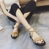Pre Order รองเท้าแตะรัดส้น แฟชั่นเกาหลี ดีไซน์สายไขว้และรัดข้อสุดชิค มี 2 สี