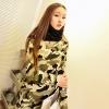 Pre Order - เสื้อกันหนาวแฟชั่นเกาหลี คอกลม ผ้าฝ้ายแบบบาง สีเขียวทหาร