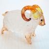 แกะแก้วเป่า Glass Figurine Sheep