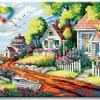 รหัส HB4050314 ภาพระบายสีตามตัวเลข Paint by Number แบบ Dream Villa ขนาด40x50cm/พร้อมส่ง