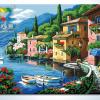 รหัส HB4050309 ภาพระบายสีตามตัวเลข Paint by Number แบบ Romantic harbor ขนาด40x50cm/พร้อมส่ง