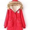 PreOrderไซส์ใหญ่ - เสื้อกันหนาวแฟชั่น ไซส์ใหญ่ Hood มีขนเฟอร์ ไม่หนามาก สี : ดำ / แดง / ส้ม / น้ำเงิน / เขียว