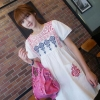 Cherry Dress ++สินค้าพร้อมส่งค่ะ++ชุดเดรสเกาหลี คอกลม แขนตุ๊กตา ผ้าฝ้ายปักลาย สไตล์ Retro แต่งกระเป๋าคู่ด้านหน้า – สีขาว