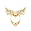 (พร้อมส่ง) แหวนตั้งมือถือลายปีกนก ประดับเพชร พร้อมตะขอเกี่ยวเอนกประสงค์ สำหรับมือถือทุกรุ่น