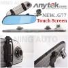 Anytek Touch Screen G77 กล้องติดรถยนต์ ระบบกล้องหน้า-หลัง