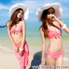 【พร้อมส่ง M L】SB3011 บิกินี่เซ็ท Sweet pink