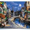 รหัส HB4050304ภาพระบายสีตามตัวเลข Paint by Number แบบ Night in Venice ขนาด40x50cm/พร้อมส่ง