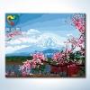 รหัส HB4050221 ภาพระบายสีตามตัวเลข Paint by Number แบบ Cherry blossoms ขนาด40x50cm/พร้อมส่ง