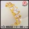 แหวนเพชร CZ รหัส MR246 size 48