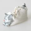 แมวในรองเท้าเซรามิค Dollhouse Ceramic Cat in Shoe