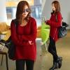 PreOrderเสื้อผ้าคนอ้วน - เสื้อกันหนาวไซส์ใหญ่ เสื้อไหมพรม ติดซิบด้านข้าง สี : น้ำเงิน / ไวน์แดง