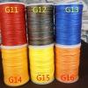 ด้ายเทียนนอก แบบเกลียวถักกลม 0.65 มิล แบบสีๆ G11-G16