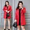 PreOrderเสื้อผ้าคนอ้วน - เสื้อโค้ท แจ็คเก็ตสูทหนัง Pu สี : แดง / ดำ
