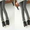 PreOrderคนอ้วน - กางเกง-เลคกิ้งกันหนาวแฟชั่น ไซส์ใหญ่ คนอ้วน กางเกงขายาวผ้าฝ้าย ซิบข้าง ข้างในเป็นผ้ากำมะหยี่ สี : เทาเข้ม / ดำ