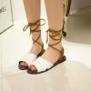 Pre Order - รองเท้าแฟชั่นเกาหลี ดีไซด์ไม่เหมือนใคร ผูกเชือกแบบเก๋ ๆ สี : สีดำ / สีน้ำตาล