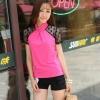 Pre Order - เสื้อแฟชั่นคนอ้วน Big Size เสื้อแขนสั้นใช้ผ้าลูกไม้ลายจุด ตัวเสื้อเป็นผ้าฝ้าย สี : สีดำ / สีน้ำเงิน / สีชมพู