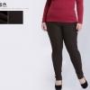 PreOrder - กางเกงเลคกิ้งกันหนาว ผ้าฝ้ายโพลิเอสเตอร์ ด้านในเป็นกำมะหยี่อุ่น ยืด สี : ดำ / กากี / น้ำตาล
