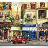 รหัส HB4050285 ภาพระบายสีตามตัวเลข Paint by Number แบบ Paris New Street ขนาด40x50cm/พร้อมส่ง