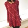 Pre Order - เสื้อกันหนาวแฟชั่นสไตล์เกาหลี คอกลมไหมพรมลายจุด ดีไซด์อินเทรน : สีชมพู-จุดดำ / สีแดง-จุดดำ / สีแดง-จุดขาว / สีดำ-จุดขาว / สีน้ำเงิน-จุดขาว