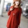 Pre Order - เสื้อกันหนาวแฟชั่นสไตล์เกาหลี เสื้อไหมพรมคลุมยาว : สีส้ม / สีครีม(เบจ) / สีชมพู / สีน้ำเงิน / สีดำ
