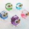 นกฮูกแก้วเป่าแฟนตาซี ชุด 5 ตัว Fantasy Glass Figurine Owl
