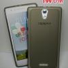 Case Oppo Mirror3 ยาง TPU สีเทาดำใส