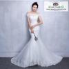 wedding ชุดแต่งงานเจ้าสาวแสนสวย โดดเด่นด้วยผ้าลูกไม้กระโปรง Fishtail