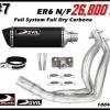 ท่อ Kawasaki ER6 N/F Devil Full System Full Dry Carbon #7