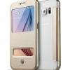 Pre Order เคสหนังฝาปิด Samsung Galaxy S6 ดีไซน์เรียบหรูโชว์หน้าจอ มี3สี