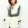 Pre Order - เสื้อกันหนาว-เสื้อเวตเตอร์แฟชั่น หนานุ่ม กระเป๋าสองข้างเป็นหมีแพนด้าน่ารัก สีดำ / สีน้ำตาล / สีขาว