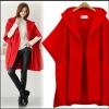 PreOrderเสื้อผ้าคนอ้วน - เสื้อกันหนาวคนอ้วน ไซส์ใหญ่ เสื้อโค้ทคลุมตัวยาว ไม่หนา สี : แดง / กากี / ดำ