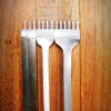 ชุดส้อมตอก ระยะฟันห่าง 4 มิล ระยะฟันกว้าง 2.0 มิล ส้อม 1+2+4+6 ฟัน รุ่นเหรียญทอง เหล็กขาวแข็ง
