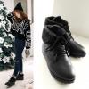 Pre Order - รองเท้ากันหนาว รองเท้าลุยหิมะ หนังPU+กำมะหยี่ ข้างในบุหนังสัตว์ สูง 12cm รอบขา 26cm สี : กากี / ดำ / ขาว ไซส์ 34 / 35 / 36 / 37 / 38 / 39 / 40 / 41 / 42
