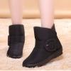Pre Order - รองเท้ากันหนาว รองเท้าลุยหิมะ ผ้าร่มกันน้ำ ข้างในบุกำมะหยี่ อีกแบบ สูง 17cm สี : น้ำเงิน / ดำ / น้ำตาล / ไวน์แดง ไซส์ 36 / 37 / 38 / 39 / 40 / 41 / 42