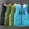 PreOrderคนอ้วน - เสื้อกั๊กกันหนาว ผ้าฝ้าย ด้านในบุขนสัตว์ มีHood สี : ดำ / เขียวเข้ม / เขียวอ่อน / ฟ้า