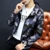 Pre Order เสื้อแจ็คเก็ตลายพราง แขนยาว มี HOOD สไตล์เกาหลี มี4สี