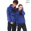 Pre Order เสื้อกันหนาวคู่รักแฟชั่นเกาหลี แขนยาว มีฮู้ด พิมพ์ลายการ์ตูน สีน้ำเงิน