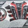 สติกเกอร์ กันรอยถัง+ฝาถัง Versys 650 #สีดำแดงลายตามภาพ