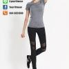 Classy Legging สีดำ ใส่สบาย กระชับตัว เย็บเป้าสามเหลี่ยม ระบายอากาศได้ดี เนื้อผ้าแห้งเร็ว ดีไซน์สวยหรู