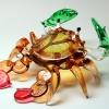 ปูแก้วเป่า Glass Figurine Crab
