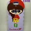 CASE OPPO N3 สาวชุดแดงพื้นม่วง