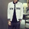 Pre Order เสื้อแจ็คเก็ตแนวเบสบอล แขนยาวสกรีนลายที่หน้าอก สไตล์เกาหลี มี5สี