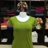 """เสื้อยืดคอกลม สีเขียวไพร size """"M"""""""
