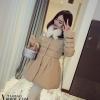 PreOrder - เสื้อกันหนาวแฟชั่นเกาหลี ไซส์เล็ก เป็นแจ๊คเก็ตบุนวม สี : ดำ / เทา / กากี