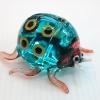 แมลงเต่าทองแก้วเป่า Glass Figurine ฺBlue Ladybug