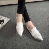 Pre Order รองเท้าสนแบนผู้หญิงแฟชั่น หัวแหลม สีทูโทน ดีไซน์เรียบ สบายๆ สไตล์เกาหลี มี2สี