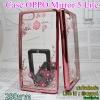 Case Oppo Mirror 5lite ยางเพรชสีโรสโกล