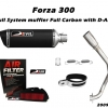ท่อ HONDA Forza300 Devil Full System muffler Carbron replica and stainless